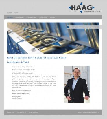 Erfolgreiche Geschäftseinführung – von Semet Maschinenbau zu Haag-Consulting